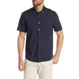 Short Sleeve Stretch Fit Poplin Shirt - Navy
