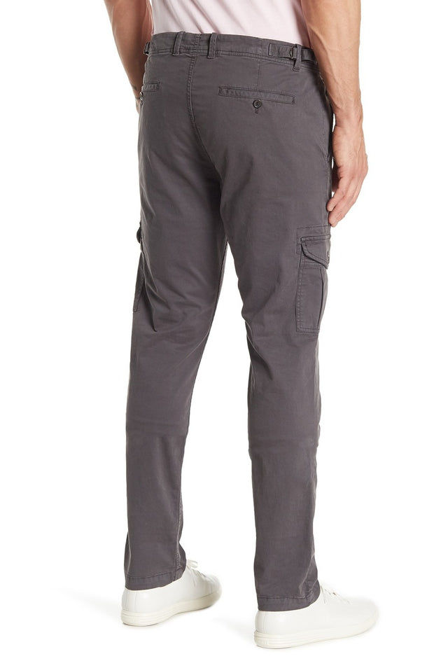 Cargo Stretch Straight Leg Pants - Dark Grey