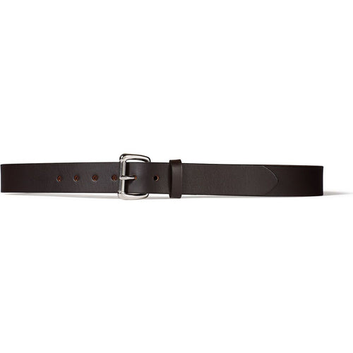 "1-1/4"" Bridle Leather Belt - Brown/Stainless"