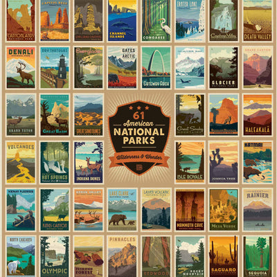 National Park Puzzle - Wilderness & Wonder 61 parks