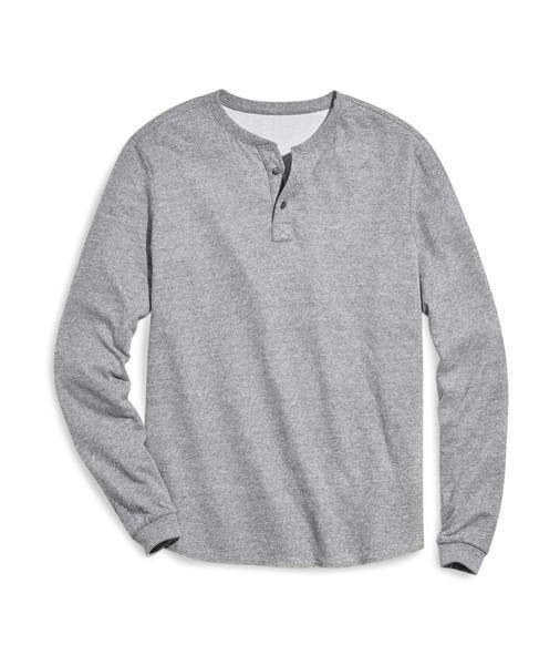 Double Knit Henley - Heather Grey