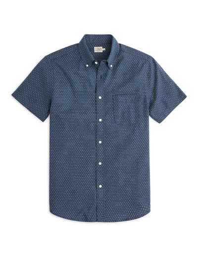 Short Sleeve Pacific - Navy Fleck
