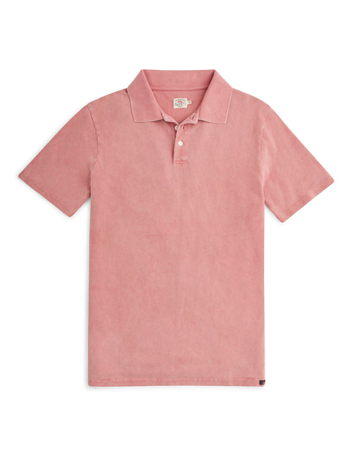 Bleeker Polo - Faded Orange Heather