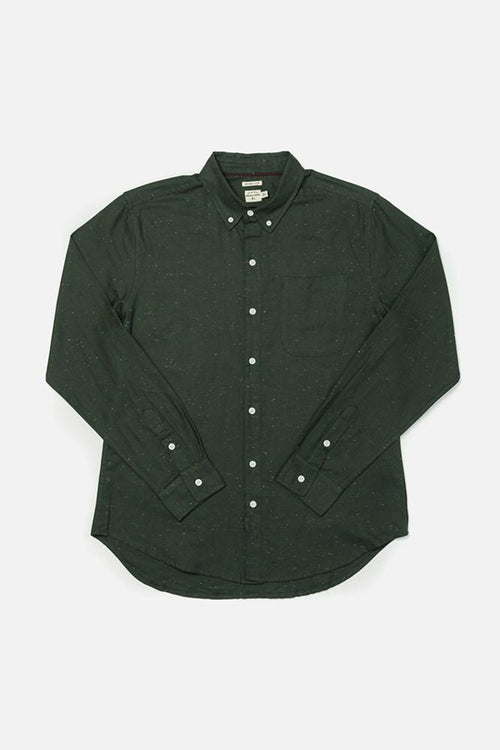 Sutton Long Sleeve Button Up - Forest Donegal
