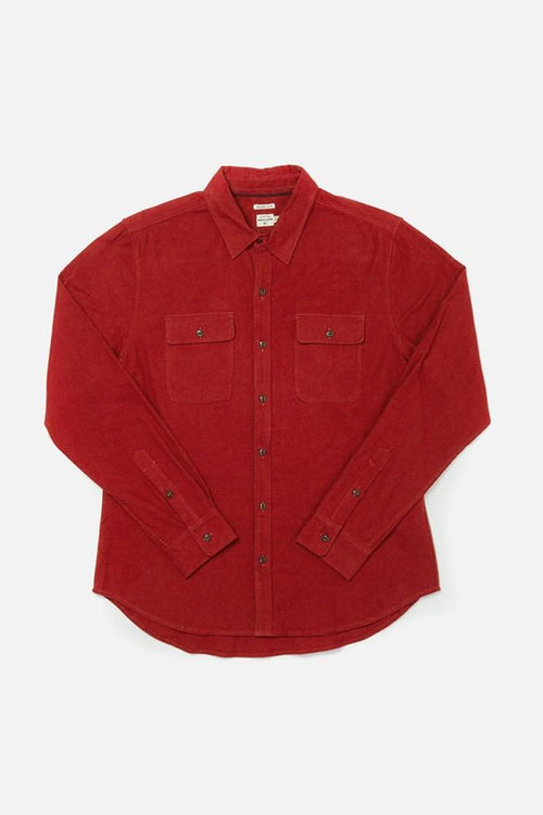 Cole Long Sleeve Button Up - Dull Red