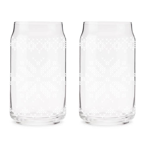 Nordic Knit Pit Glass - Set Of 2