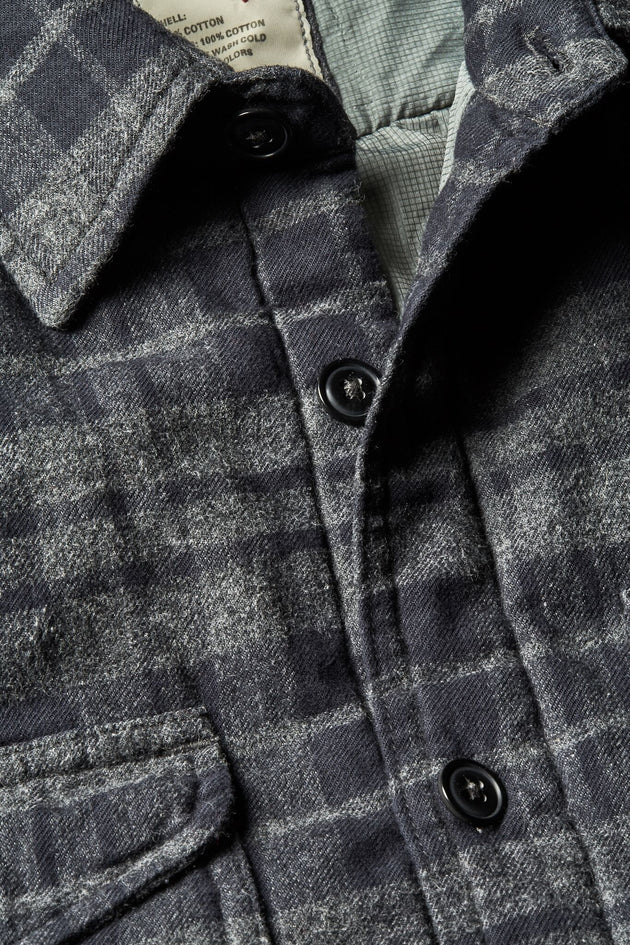Brushed Flannel CPO - Dark Grey/Navy Plaid