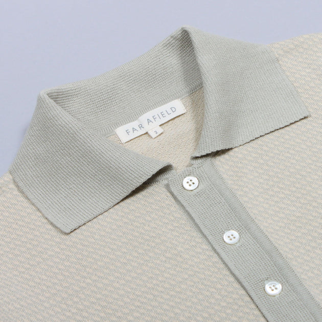Leon Short Sleeve Polo - Agate Grey/Biscotti