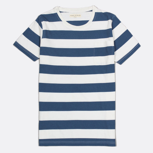 Bold Stripe T-Shirt - Blue/White