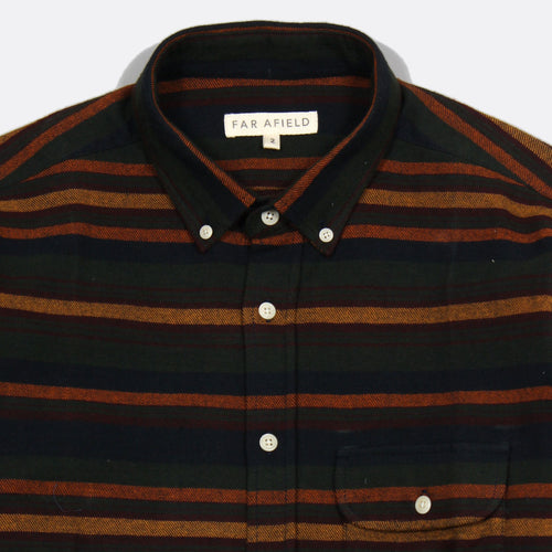 Larry Long Sleeve Button Up - Bijorn Stripe