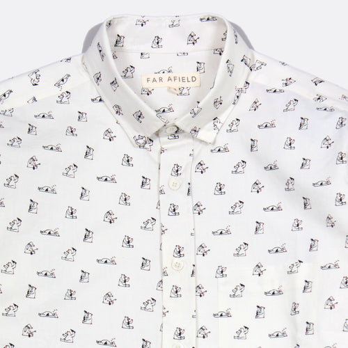 Cognito Long Sleeve Button Up - Boozy Bear Print