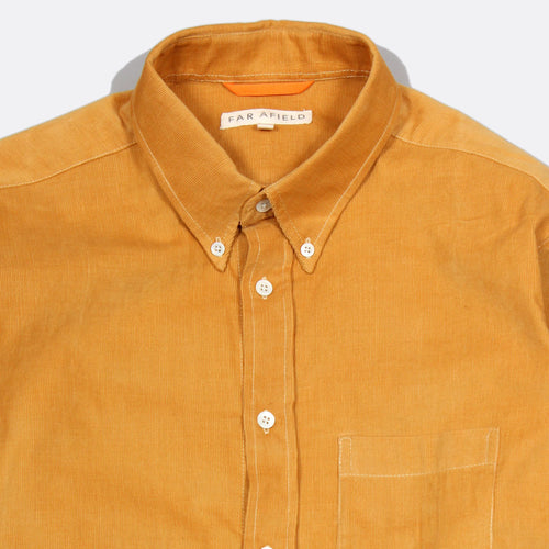 Field Corduroy Long Sleeve Button Up - Inca Gold