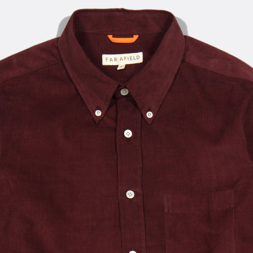 Field Corduroy Long Sleeve Button Up - Bitter Chocolate