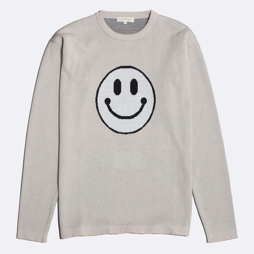 Acid Smile Knit Sweater - Stone/White