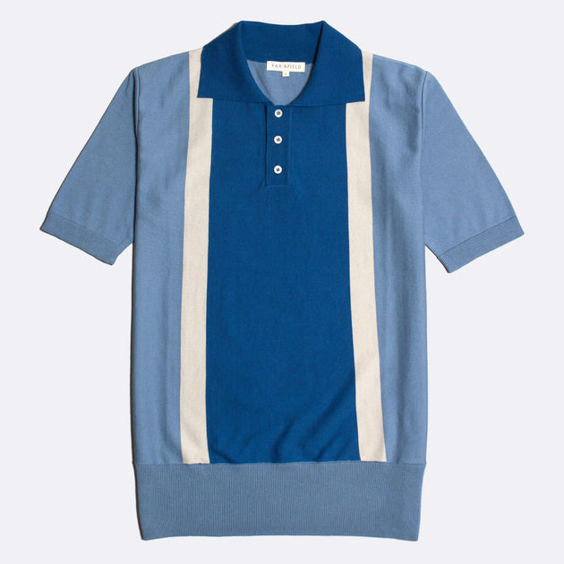 Cole Trio Short Sleeve Polo - Blue/Stonewash/Stone