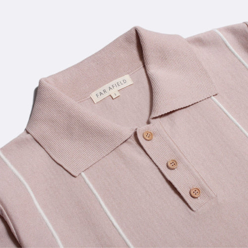 Alfaro Short Sleeve Polo - Rose Dust/Snow White