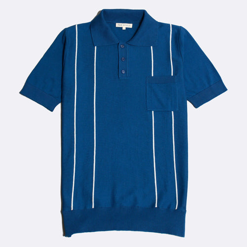 Alfaro Short Sleeve Polo - Monaco Blue/Snow White