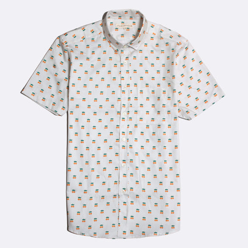 Cognito Short Sleeve Button-Up - Oranges