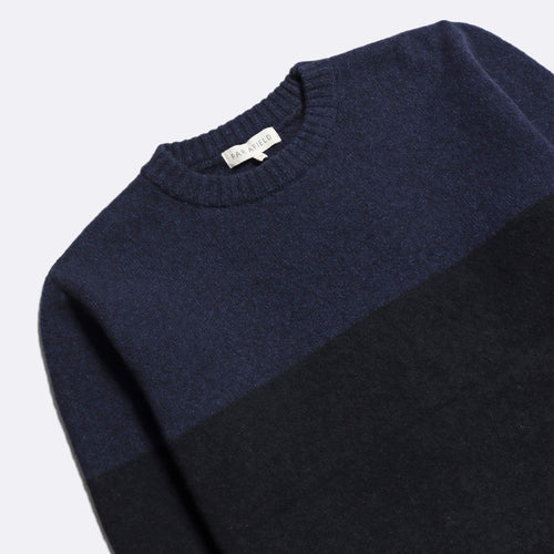 Bodan Knit Sweater - Espresso Grey/Navy