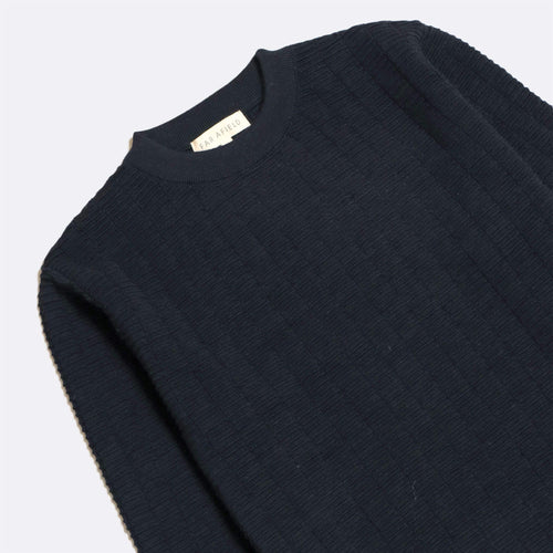 Vitor Ribbed Crewneck - Navy