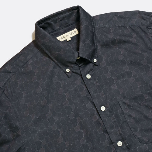 Mod Button Down Long Sleeve Shirt - Navy Layers