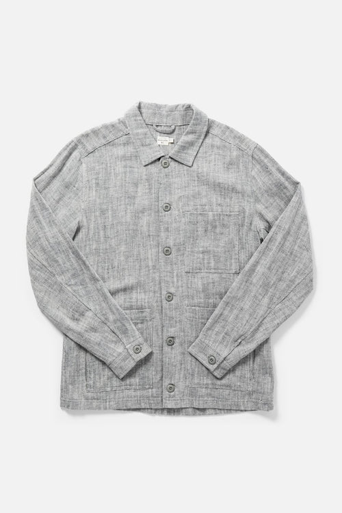 Isko Slub Button-Up Shirt - Midnight