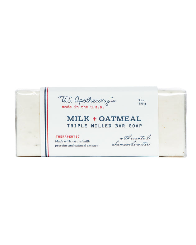 Milk + Oatmeal Triple Milled Bar Soap, 9 oz.
