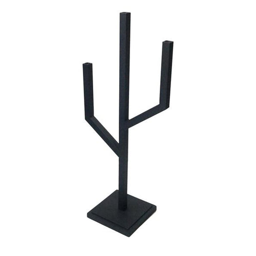 Iron Adare Candlestick, Small - Matte Black