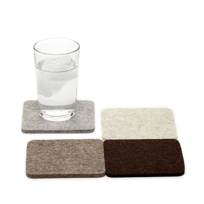 Felt Coaster Multipack, Square - Earth Mix