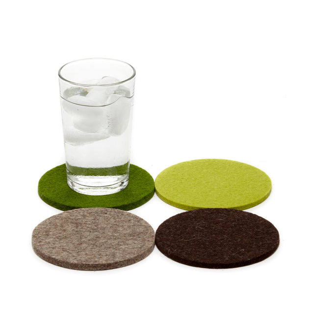 Felt Coaster Multipack, Round - Forest Mix