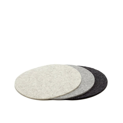 Felt Trivet, Round, Set of 3 - Newsprint Mix