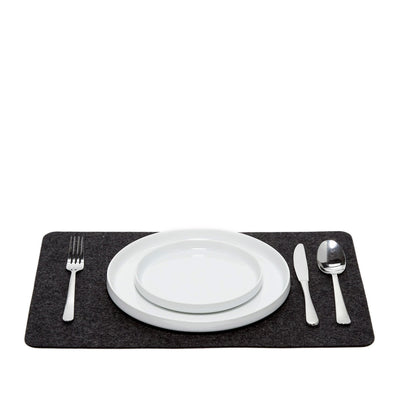 Felt Placemat, Rectangular - Charcoal