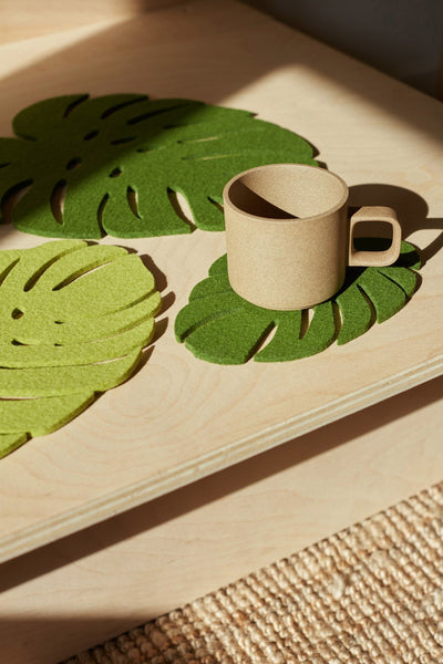 Leaf Monstera Trivet - Greens