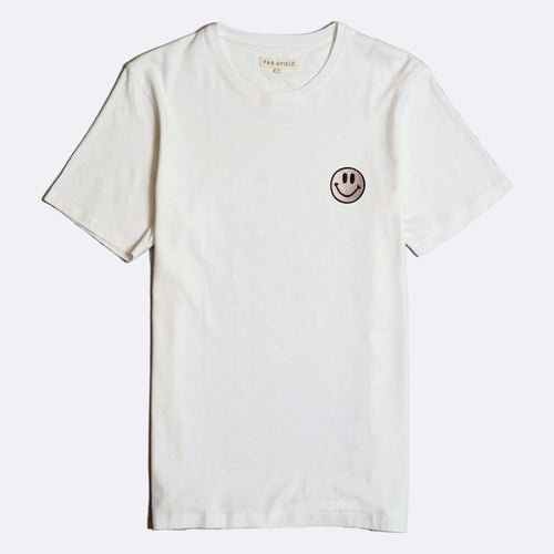 Embroidered Acid Smile T-Shirt - White