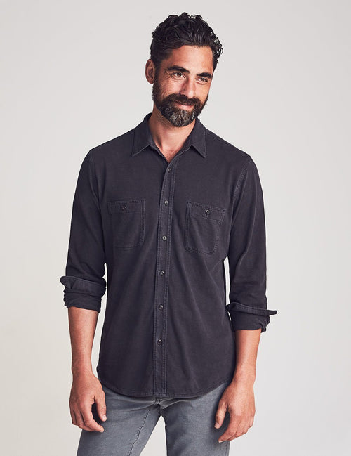 Knit Seasons Long Sleeve Shirt - Washed Black