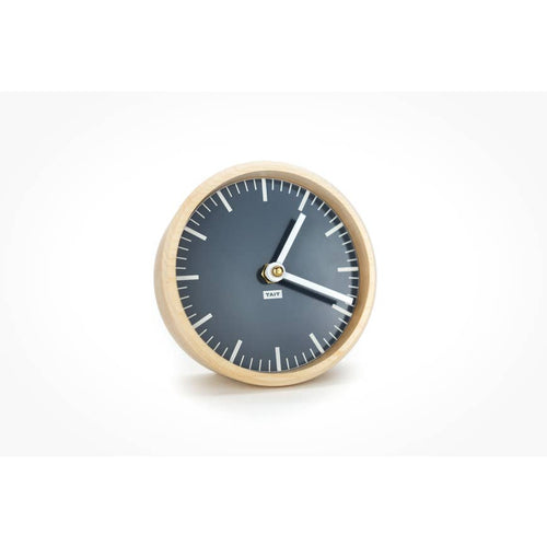Solid Maple And Aluminum Desk Clock - Slate