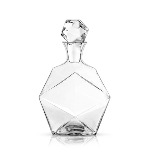 Faceted Crystal Decanter, Lead-Free