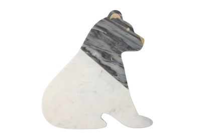 Marble Bear Board - White & Grey
