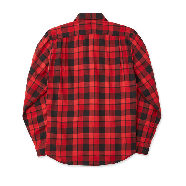 Scout Long Sleeve Button Up - Black/Scarlet Plaid