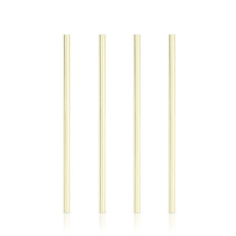 Reusable Wide Straws, Set of 4 - Gold