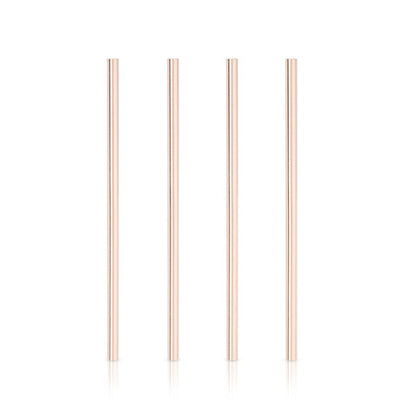Reusable Wide Straws, Set of 4 - Copper