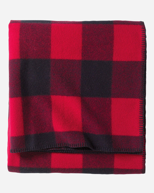 "Washable Eco-Wise Wool Plaid/Stripe Blanket, 66"" x 96"" - Rob Roy Tartan"