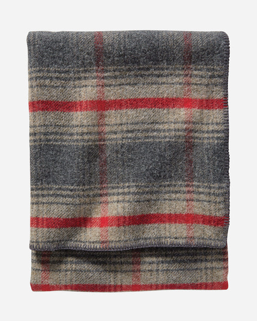"Washable Eco-Wise Wool Plaid/Stripe Blanket, 66"" x 96"" - Oxford Waverly"