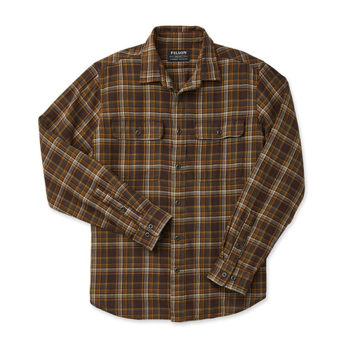 Scout Long Sleeve Button Up - Brown/Tan/Otter Green Plaid