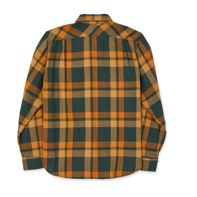 Scout Long Sleeve Button Up - Green/Gold Plaid