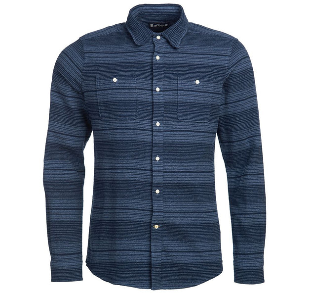 Barbour Plockton Shirt - Navy Stripe
