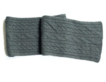 Wool Blend Cableknit Scarf - Sage