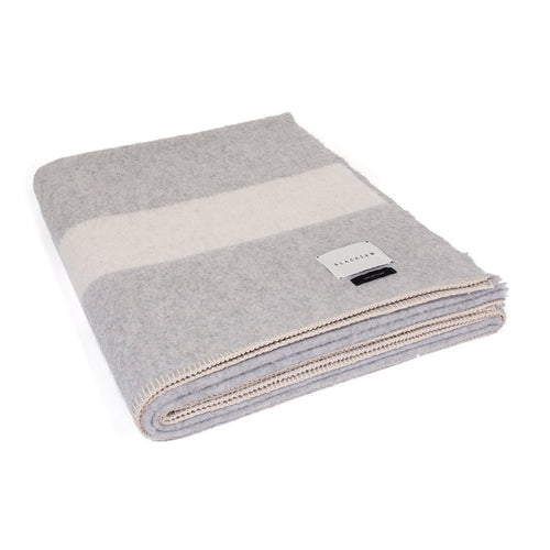 The Siempre Recycled Blanket - Light Heather Stripe