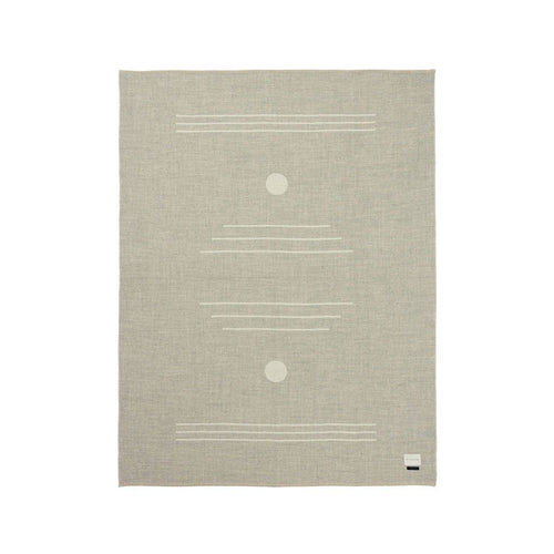 The Harvest Moon Reversible Throw - Light Heather And Ivory