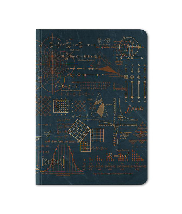 Hardcover Notebook, Mini - Math Plate 2: Pythagoras